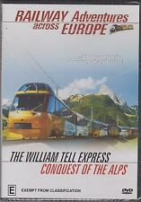 RAILWAY ADVENTURES ACROSS EUROPE - THE WILLIAM TELL EXPRESS & CONQUEST  - DVD