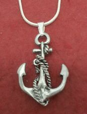 Anchor Necklace silver plated charm pendant and chain