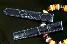 Genuine Leather Band Strap bracelet (fits) Cartier Tank 12mm 14mm 16mm 18mm blue