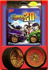 Hoppin Hydros 1/24 1/25 scale Gold DIAMOND 20's Rims Wheels & Tires Model Cars