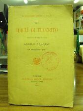 Idilli di Teocrito - a cura di Angelo Taccone - F.lli Bocca ed. (B1)