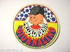 ADESIVO anni '80 / Old Sticker Vintage PICCOLO DENTE il giornalino (cm 9)
