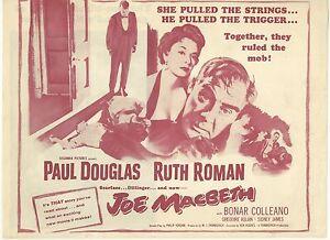 JOE MACBETH(1955)PAUL DOUGLAS LOT OF 6 ORIGINAL HERALDS MINT
