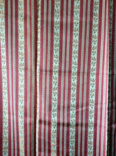 "Rosebys ~ pink Regency satin striped jaquard woven pair curtains 74""LX 94""W each"