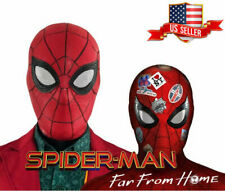 US!Spider-Man Far From Home Adult Latex Full Mask Halloween Cosplay Helmet Props