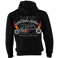Hotrod 58 Hot Rat Rod Zip Hoody Hoodie American Classic Vintage Shifters Car 56
