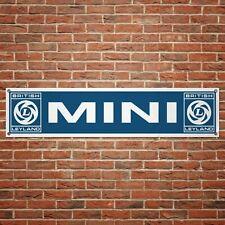 British Leyland Mini Banner Garage Workshop PVC Sign Trackside Display Version 2