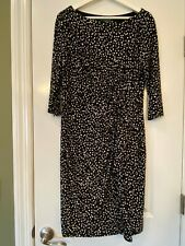 Ralph Lauren 14 12 Excellent condition Black White Gray Dress Slimming Lined