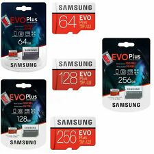 Samsung 32GB 64GB 128GB 256GB Micro SD SDHC EVO Plus Memory Card Class10 4K