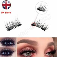 UK Magnetic EyeLashes False Magnet Eye Lashes Natural Extensions Reusable 3D