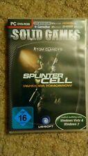 PC DVD ROM Solid Games Splinter Cell Pandora tomorrow Computer Game