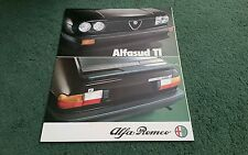 1980 1981 ALFA ROMEO ALFASUD 1.5 Ti - UK FOLDER BROCHURE