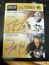 Marc-Andre Fleury Jordan Staal 2012-13 SP Authentic Sign Of The Times Dual Auto!