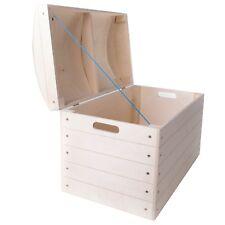 Pecho de almacenamiento grande caja baúl/con Tapa para Artesanía/para Decorar/L50xW26xH35cm