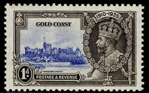 GOLD COAST GV SG113, 1d ultramarine & grey-black SILVER JUBILEE, LH MINT.