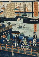 Repro Japanese Print 'Igirisu Rondon Taiko' by Hiroshige ref#2