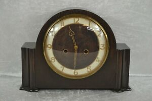 Vintage Smiths Enfield Art Deco Style Wooden Mantel Clock SPARES