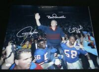 LAWRENCE TAYLOR BILL PARCELLS CARL BANKS SIGNED NEW YORK GIANTS 16x20 PHOTO JSA