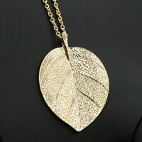 Fashion Jewelry Retro Sweater Chain Long Gold Plated Leaves Necklace Party Gift