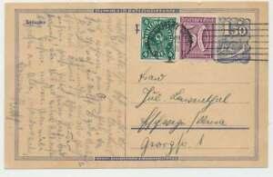 D.Reich Postreiter-Ganzsache + Beifrankatur FRANKFURT 4.12.22 (47680)