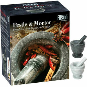 Heavy Pestle and Mortar Set Natural Spice & Herb Crusher Grinder Durable Stone