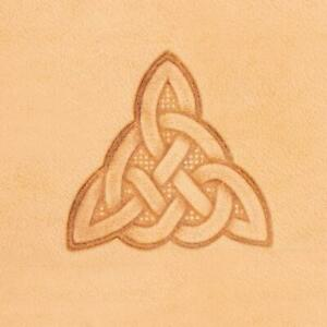 Ivan 3D Leather Stamp - Celtic Triangle (8610-00)