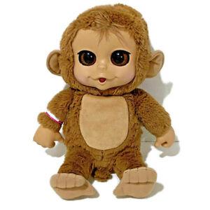 "Jakks Pacific Talking Plush Monkey 14"" Big Eyes Ears Hospital Patient Armband"