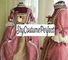Marie Antoinette French Baroque Pink Dusty Rose perfect Gown Dress FREE FAST SHI