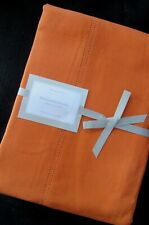 WILLIAMS SONOMA Hemstitched Linen Tablecloth & set of 4 Matching Napkins - NEW!