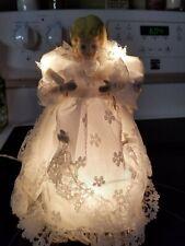 Vintage porcelain head angel with lights