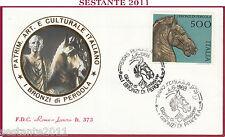ITALIA FDC ROMA LUXOR 1988 I BRONZI DI PERGOLA ANNULLO PERGOLA PS Z10