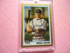2010 BOWMAN FIRST CARD RUSSELL WILSON COLORADO ROCKIES GOLD BORDER RARE