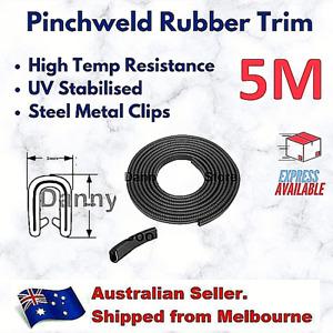 5M Pinchweld Pinch Weld Car Rubber Seal Edge Door Trim Mould Metal Clips 5 x 8mm