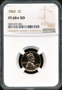 1963 Proof Lincoln Cent NGC PF 68* STAR RD *Superb Eye Appeal!*