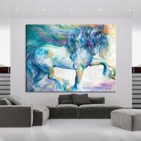 LMOP43 100% Hand painted color abstract Horse oil painting animal art on canvas