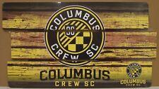 "COLUMBUS CREW SC LOGO WOOD SIGN 14""X25'' BRAND NEW FREE SHIPPING WINCRAFT"