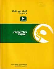 John Deere Model 4640 and 4840 Operator's Manual and It Shop Service Manual