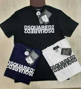 DSQUARED2 T-SHIRT Mens Top Cotton Regular Fit Short Sleeve New