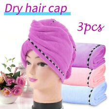Microfiber Towel Quick Dry Hair Magic Drying Turban Wrap Hat Cap Bathing HQY
