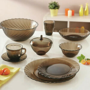 Luminarc Ocean Eclipse 45-pc Full Dinner Set, Tempered Glass, Made in Russia