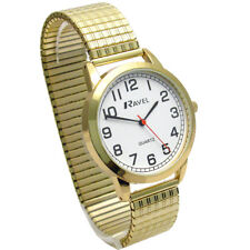 Ravel Men's Super-Clear Quartz Watch with Expanding Bracelet Gold #41 R0232.12.1