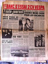 b)L'AUTO-JOURNAL n°196 de 15/04/1958 Essai 2 CV Vespa/ Essai Manurhin 75 cm3