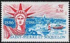 1986 FRANCE ST PIERRE ET MIQUELON STATUE DE LA LIBERTÉ STATUE OF LIBERTY NEUF*