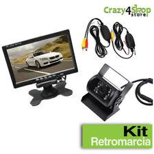 """Kit Retromarcia Telecamera Posteriore per Auto e Camper con Monitor LCD 7"""""""
