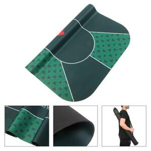 """71""""x36"""" Portable Poker Mat Rubber Foam Table Top Layout 8 Players with Carry Bag"""