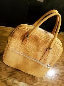 Lady Baltimore Carry on Travel Bag Beige with Lock no Key 1970's