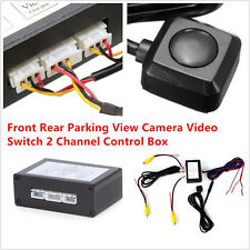 1X Car SUV Front Rear ParkingView Camera Switch 2 Channel Control Box Converter