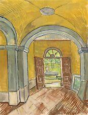 Van Gogh Drawings: Vestibule of the Asylum at Saint-Remy - Fine Art Print