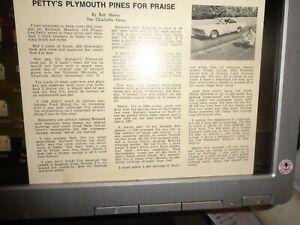 RARE 1967 Richard Petty Plymouth Pines For Praise Vintage NASCAR Postcard