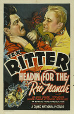 HEADIN' FOR THE RIO GRANDE Movie POSTER 27x40